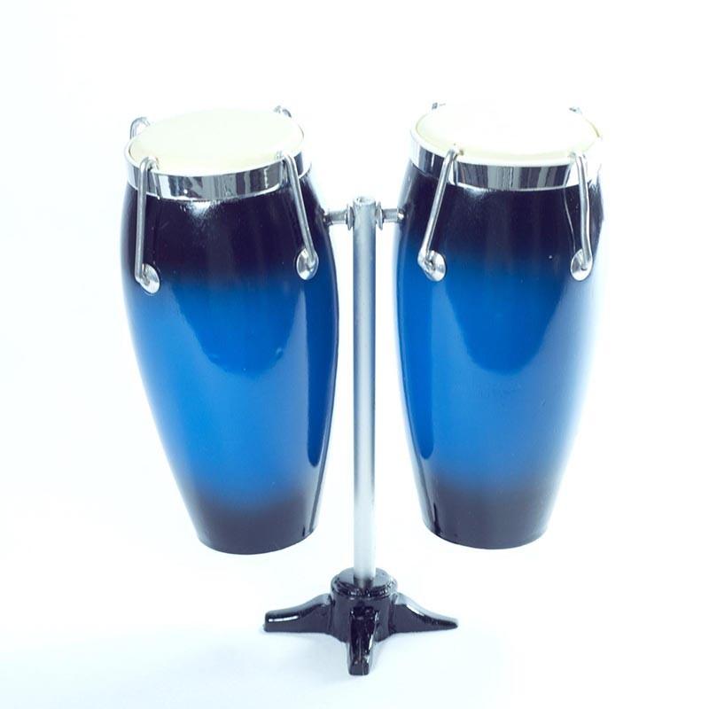 Mini Conga Doble De Colección Color Azul
