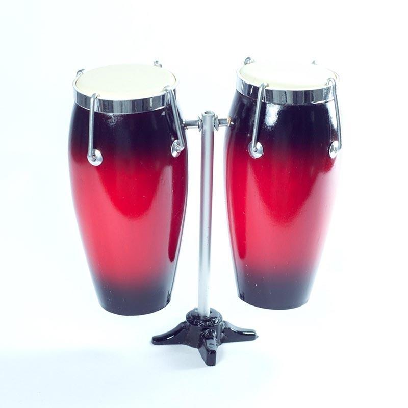 Mini Conga Doble De Colección Color Rojo