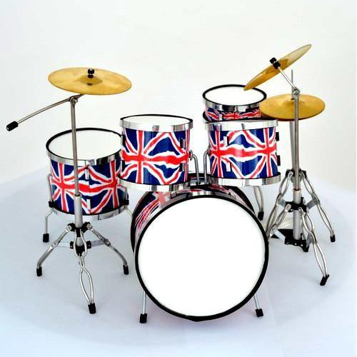 Mini Batería De Colección Estilo UK Flag
