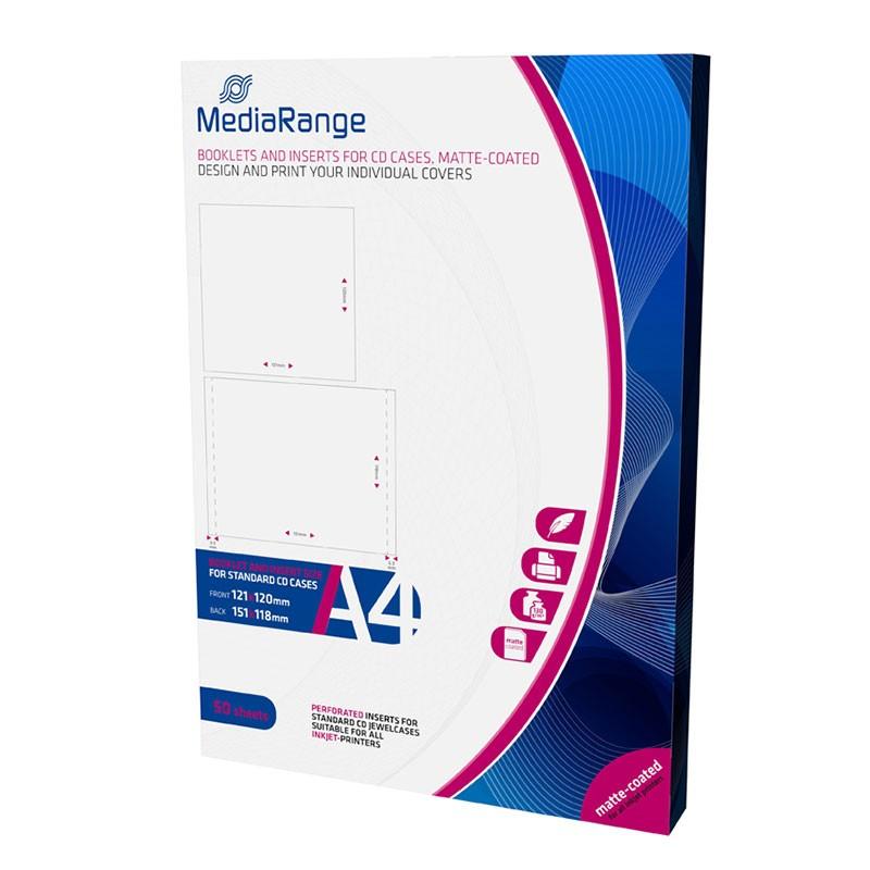 MediaRange Caratulas Completas para Cajas CD Jewelcase 50 pcs A4