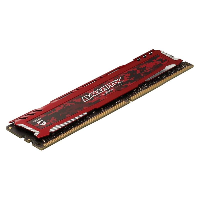 Memoria Crucial Ballistix Sport LT BLS8G4D240FSE 8GB DDR4 2400MHz Roja