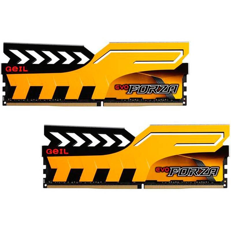 Kit Memoria GeiL Evo Forza 16GB DDR4 2133MHz Amarilla (2x8GB)