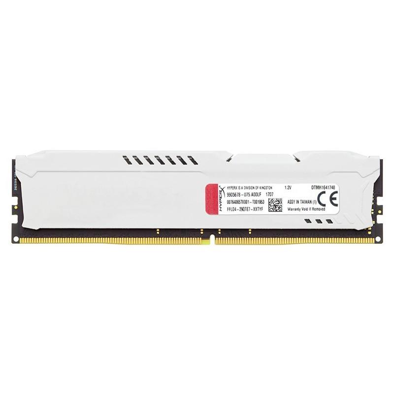 Memoria Kingston HyperX FURY 8GB DDR4 2666MHz Blanca