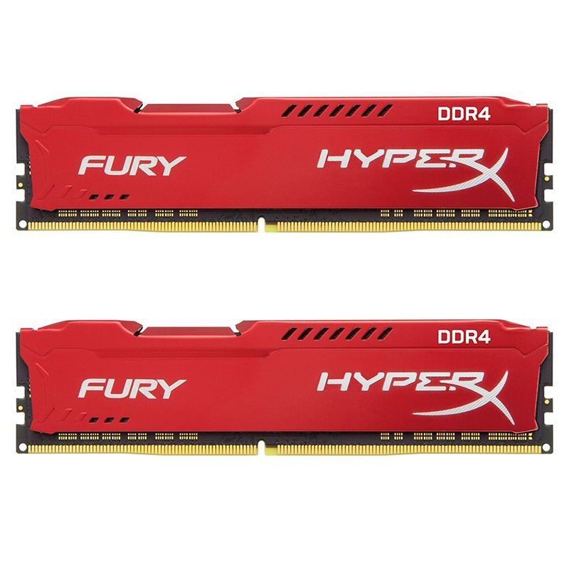 Kit Memoria Kingston HyperX FURY 16GB DDR4 2666MHz (2x8GB) Roja