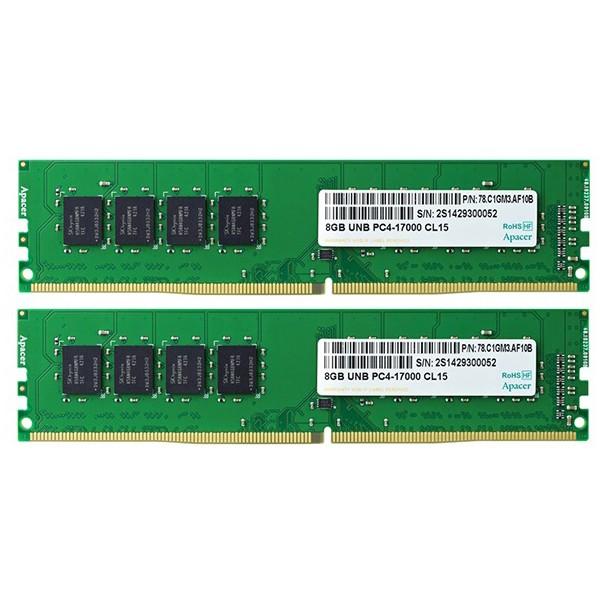 Kit Memoria Apacer EL.16G2R.GDH 16GB DDR4 2133MHz UDIMM (2x8GB)