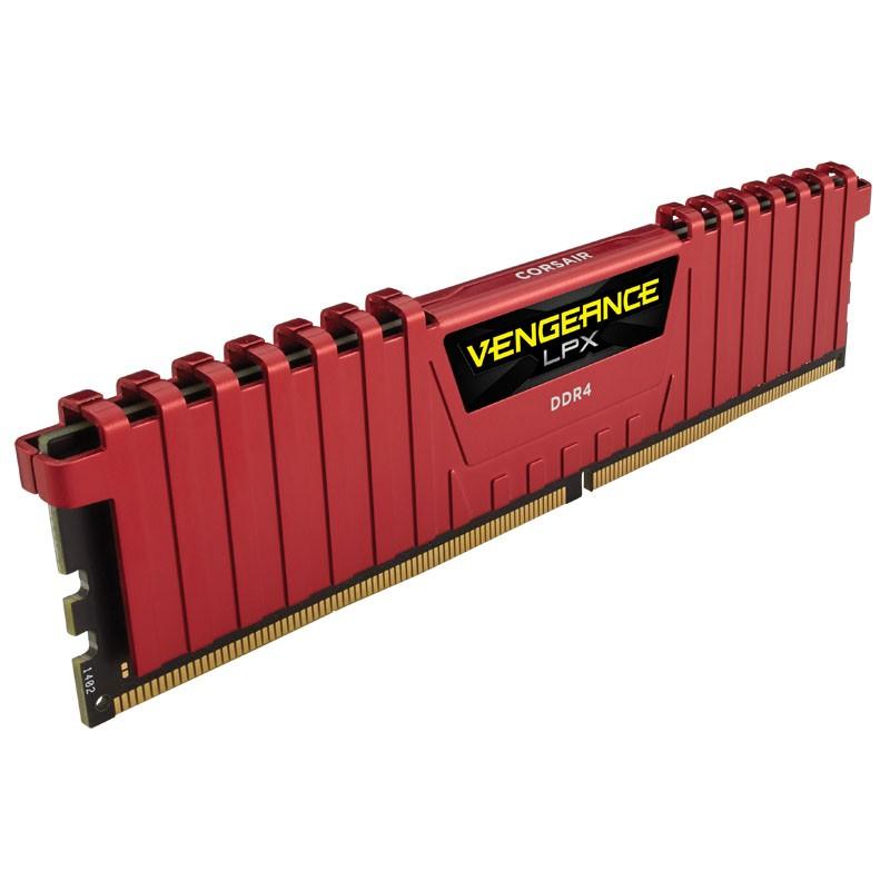 Memoria RAM Corsair Vengeance LPX 16GB (2x8GB) DDR4 3200MHz, Rojo