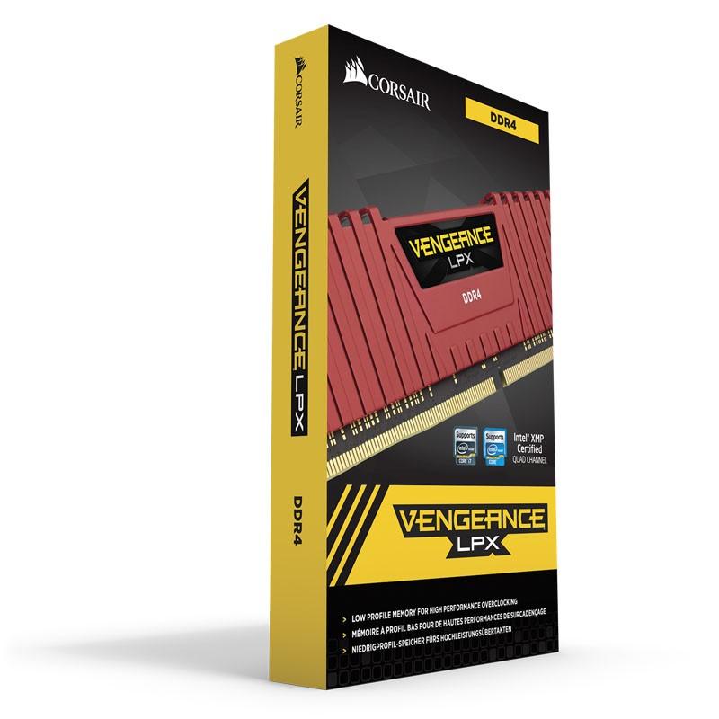 Kit Memoria Corsair Vengeance LPX 32GB DDR4 2400MHz C16 (4x8GB) Rojo