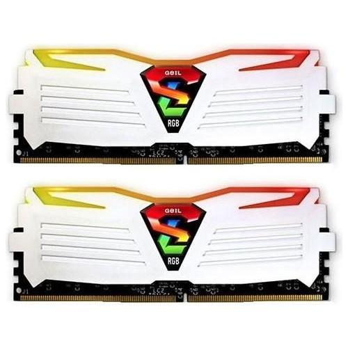 Kit Memoria GeiL Super Luce 16GB DDR4 2400MHz Blanca RGB (2x8GB)