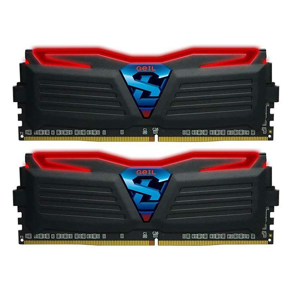 Kit Memoria GeiL Super Luce 16GB DDR4 2400MHz Roja (2x8GB)
