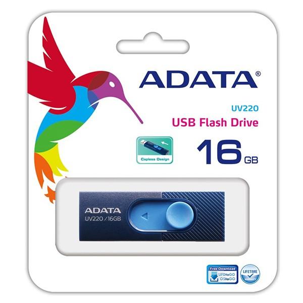 Pendrive 16GB Adata UV220 Azul/Marino