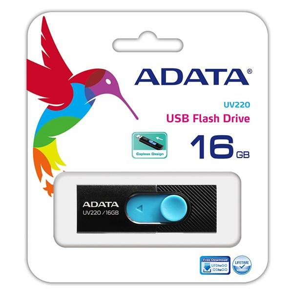 Pendrive 16GB Adata UV220 Negro/Azul
