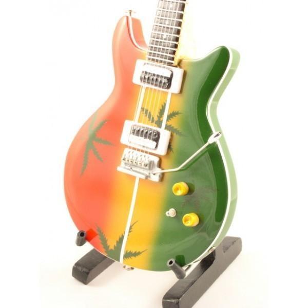 Mini Guitarra De Colección Tributo Bob Marley - Ganja