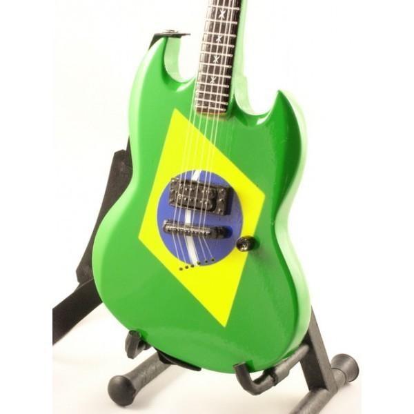 Mini Guitarra De Colección Estilo Soulfly - Max Cavalera