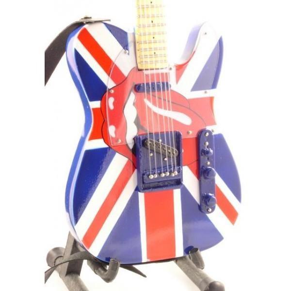 Mini Guitarra De Colección Estilo Rolling Stones - Keith Richards - UK&Tongue