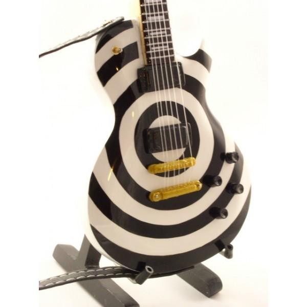 Mini Guitarra De Colección Estilo Black Label Society - Zakk Wylde