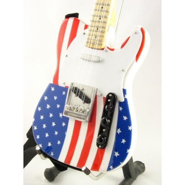 Mini Guitarra De Colección Estilo Bruce Springsteen USA
