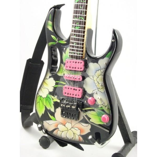 Mini Guitarra De Colección Estilo Steve Vai - Flower Cut