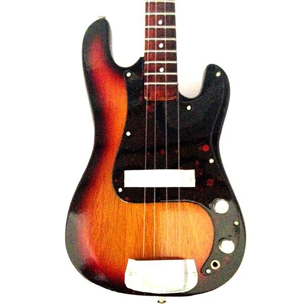 Mini Guitarra De Colección Estilo Marcus Miller - Relic Bass