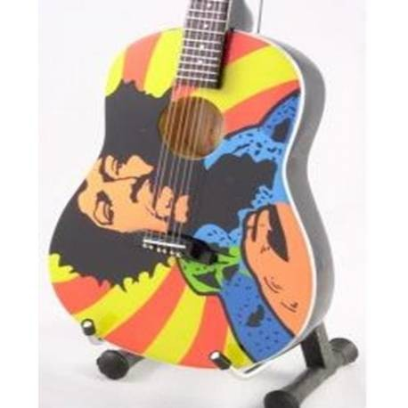 Mini Guitarra De Colección Tributo Jimi Hendrix - Acoustic