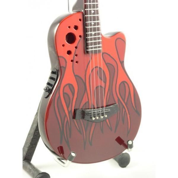 Mini Guitarra De Colección Estilo Mötley Crüe - Nikki Sixx - Red Bass