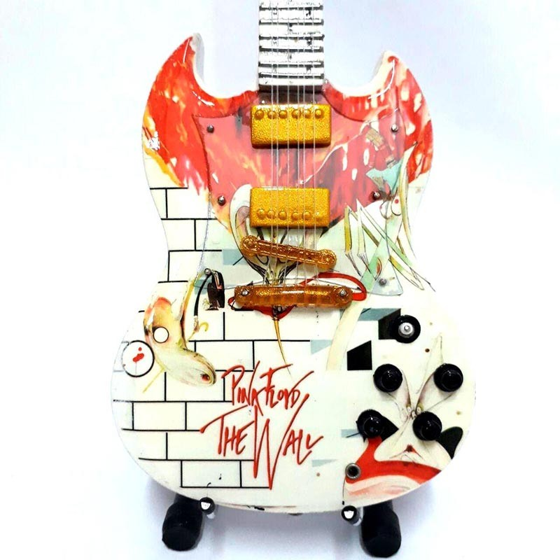 Mini Guitarra De Colección Tributo Pink Floyd - The Wall SG