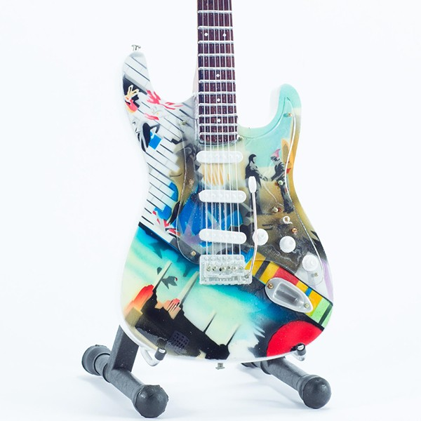 Mini Guitarra De Colección Tributo Pink Floyd - Wish You Were Here
