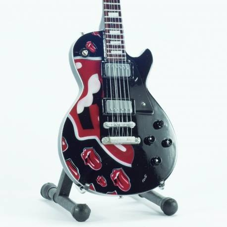 Mini guitarra de colección tributo rolling stones - tongues