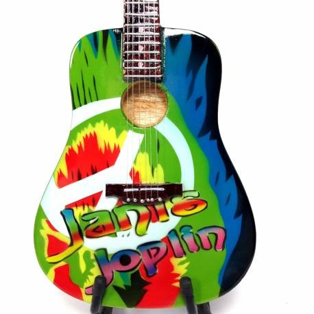 Mini guitarra de colección tributo janis joplin
