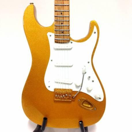 Mini Guitarra De Colección Estilo Eric Clapton - Gold Leaf