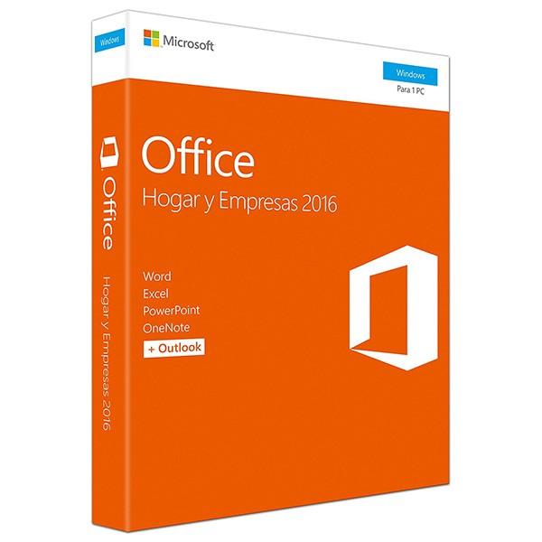 Microsoft office hogar y empresas 2016 1 licencia para windows