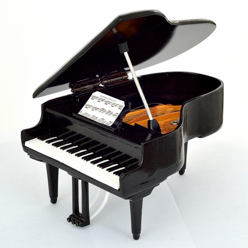 Mini Piano de Colección Color Negro