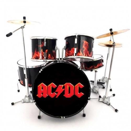 Mini Batería De Colección Estilo AC/DC
