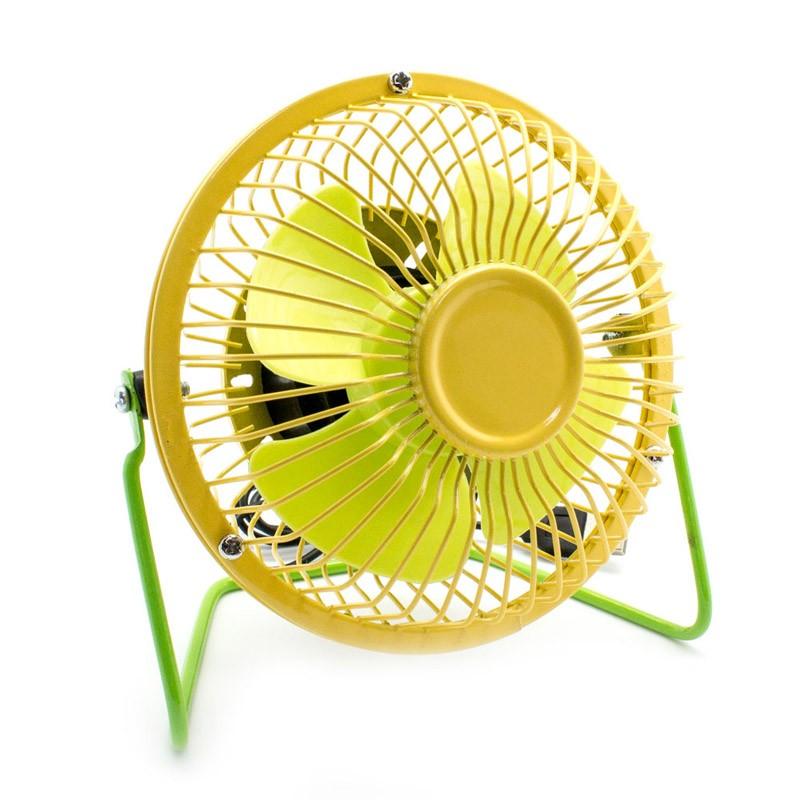 Mini ventilador usb sobremesa amarillo verde - Ventilador de sobremesa ...