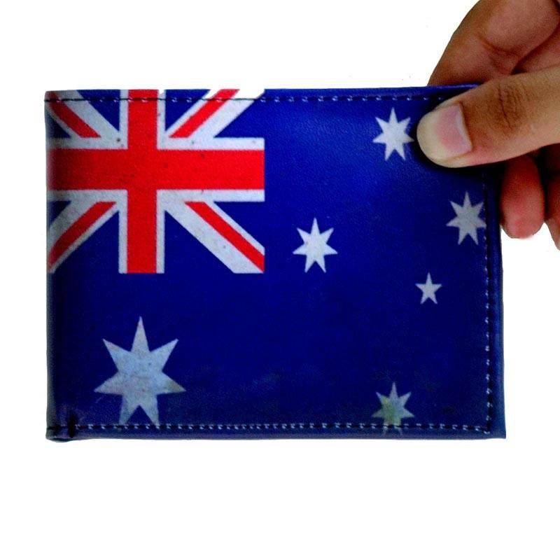 Cartera de Piel Sintética Australia Old Flag