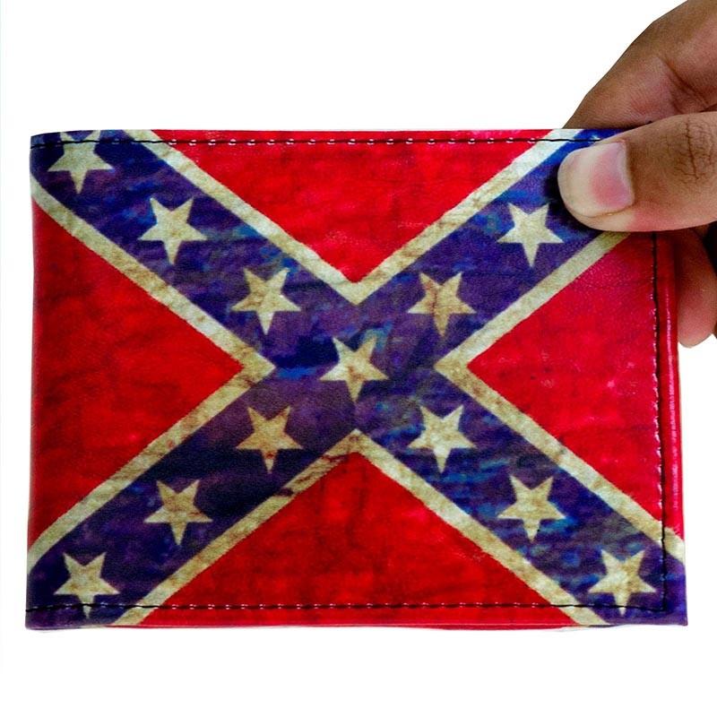 Cartera de Piel Sintética Confederate Old Flag