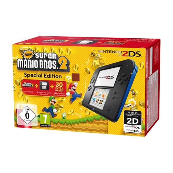 Nintendo 2DS Azul/Negro + New Super Mario Bros 2 (Preinstalado)