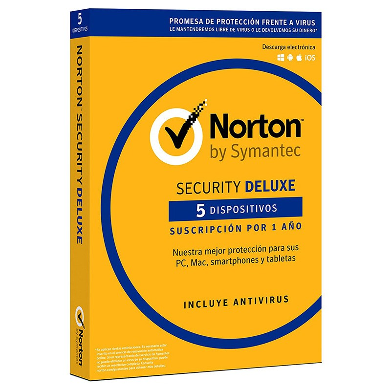 Norton Security Deluxe 2018 5 Dispositivos