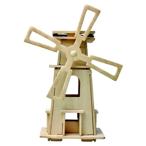 Kit juguete educativo cebekit molino de viento solar madera (c-9757)