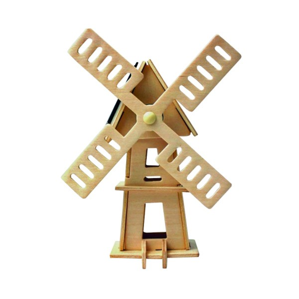 Kit juguete educativo cebekit molino de viento solar madera (c-9756)