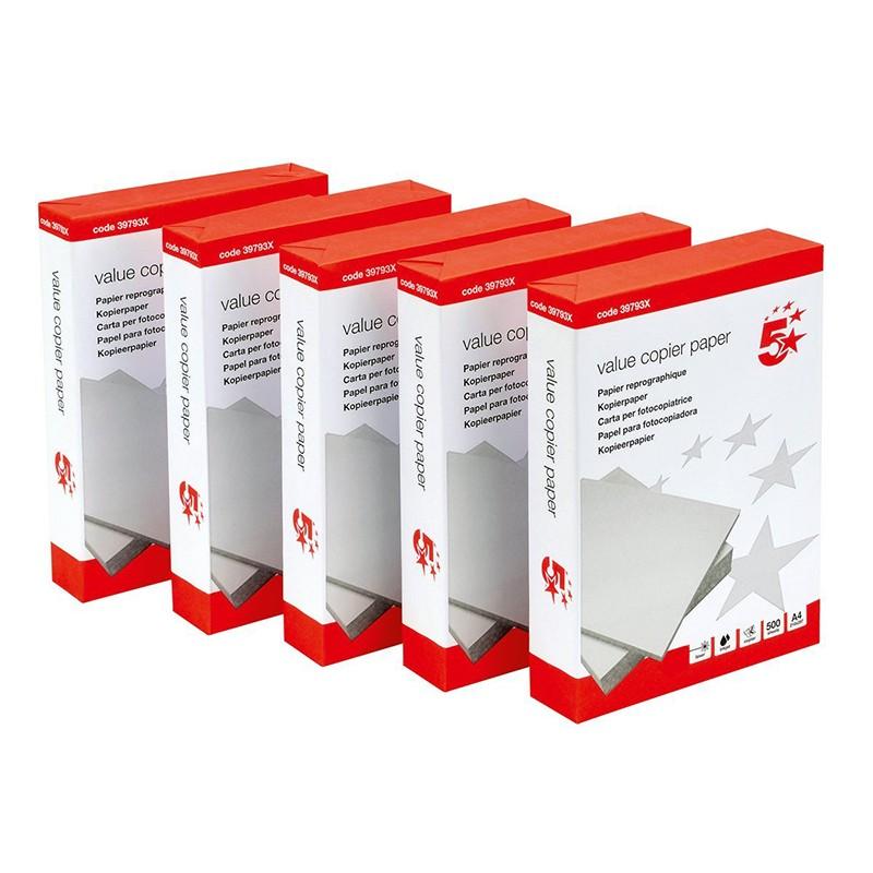 Papel Multifunción 5 Star DIN A4 80g pack 500 pcs