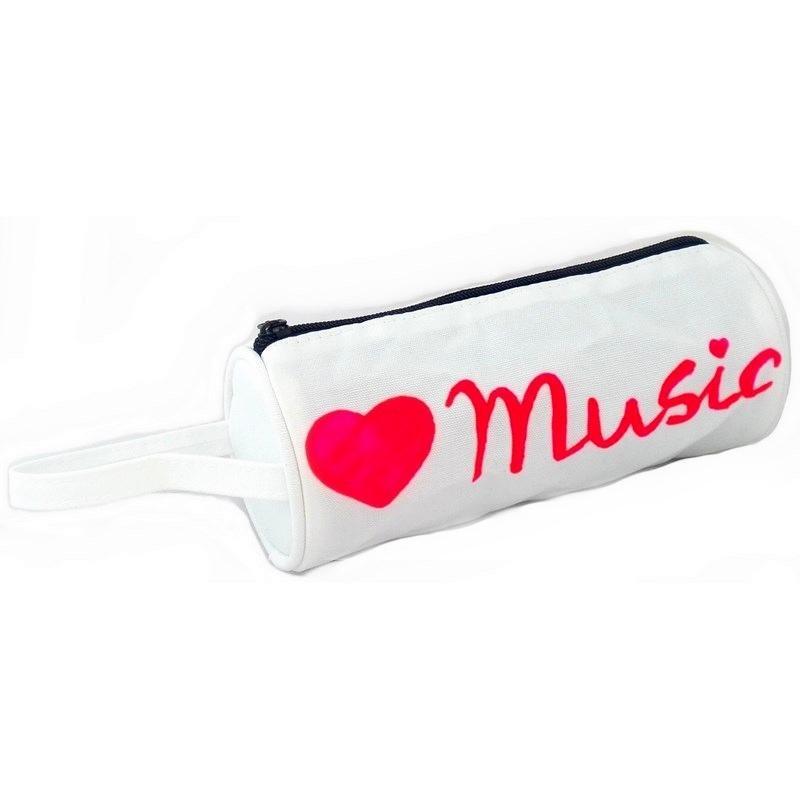 Estuche para lápices o maquillaje modelo love music
