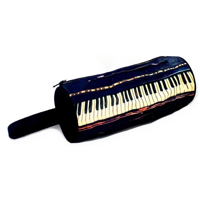 Estuche para lápices o maquillaje modelo piano keyboard