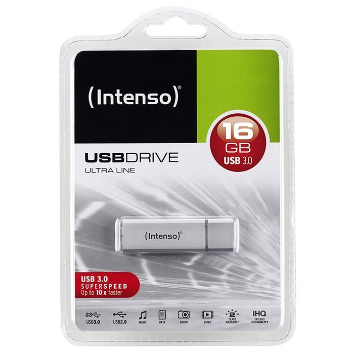 Pendrive 16GB 3.0 Intenso 3531470 Ultra Line Plata