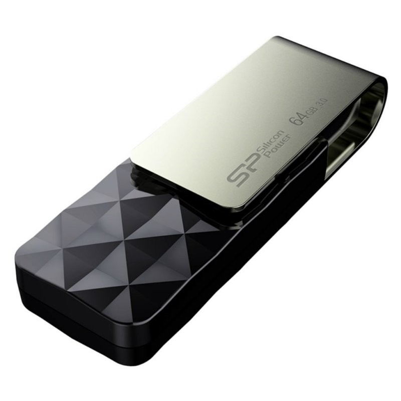 Pendrive 64GB Silicon Power Blaze B30 USB 3.1 Negro