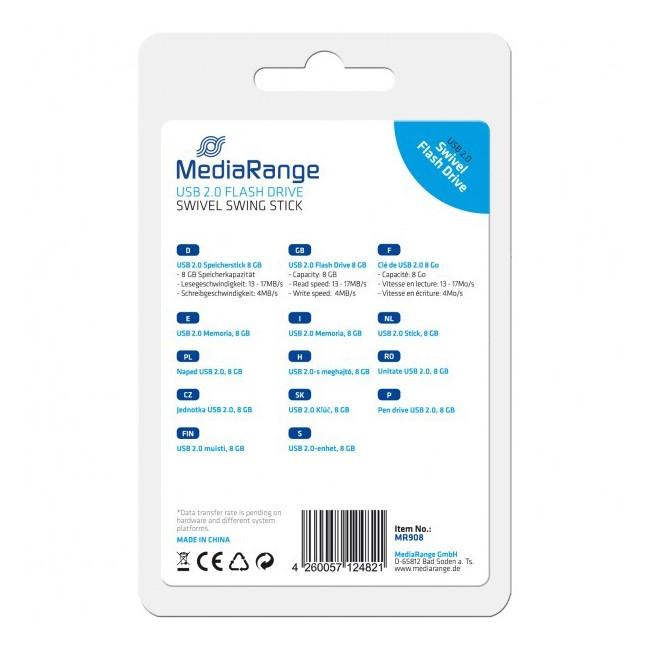 Pendrive 8GB MediaRange Flexi-Drive