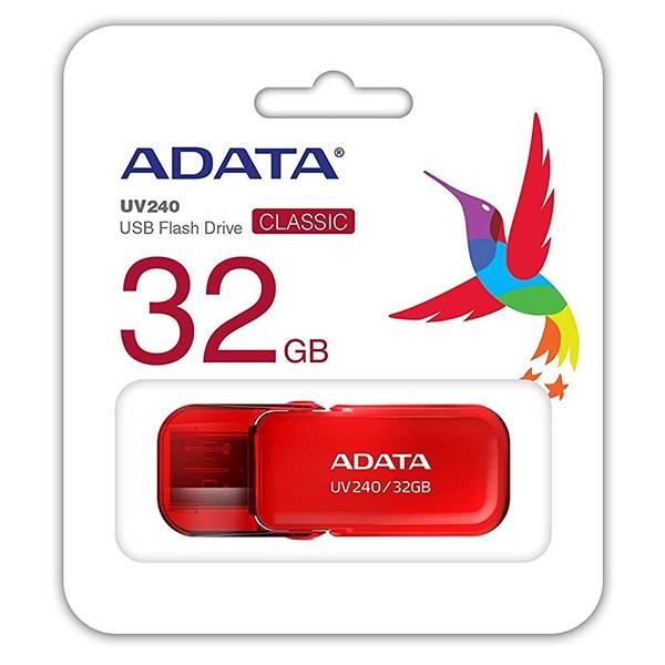 Pendrive 32GB Adata UV240 Rojo