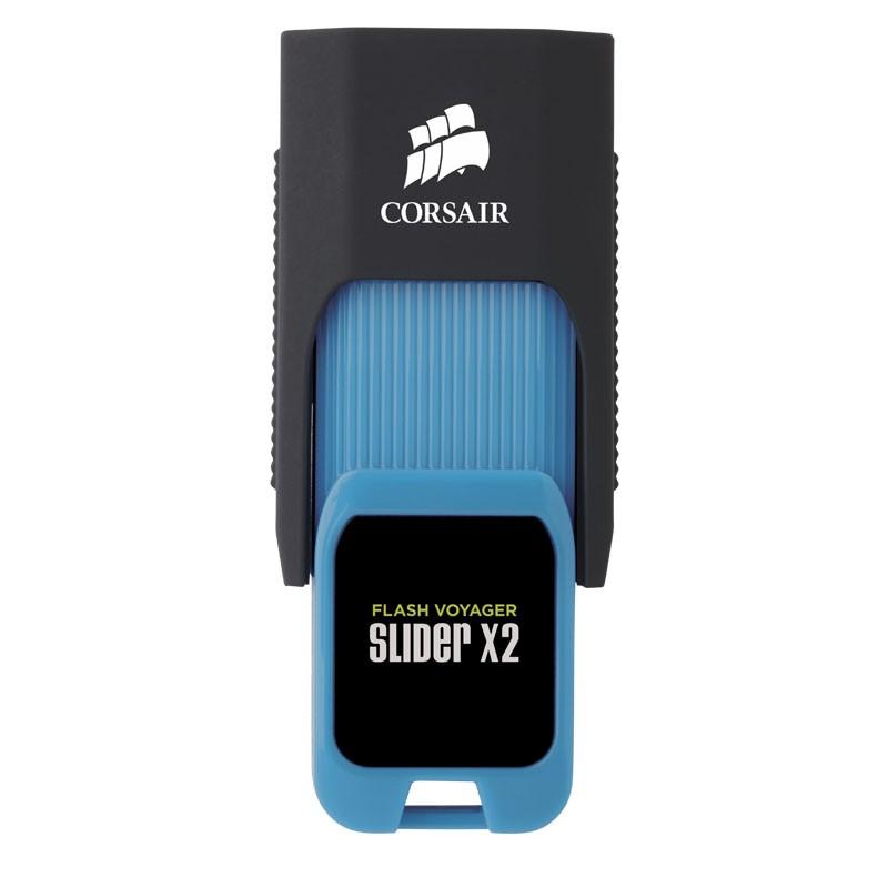 Pendrive 512GB Corsair Voyager Slider X2 USB 3.0 Azul