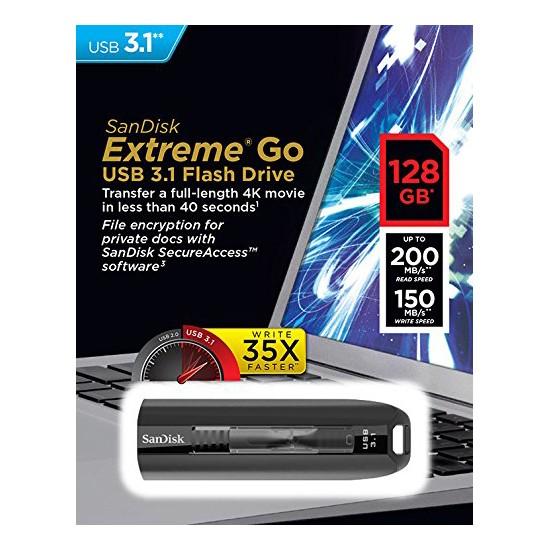 Pendrive 128GB SanDisk Extreme Go USB 3.1