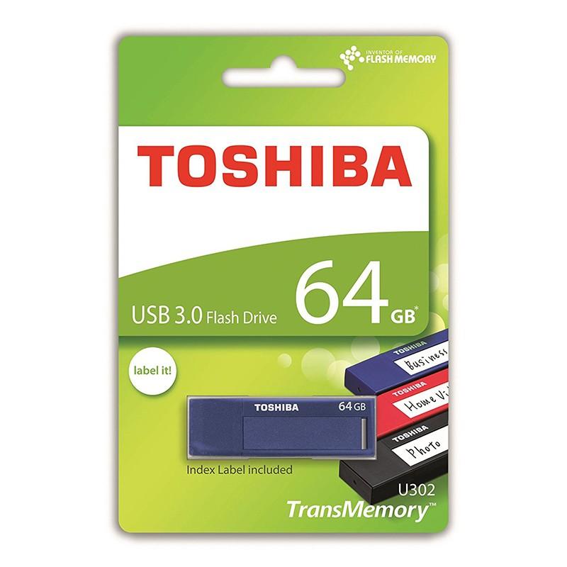 Pendrive 64GB Toshiba TransMemory U302 Daichi USB 3.0 Azul