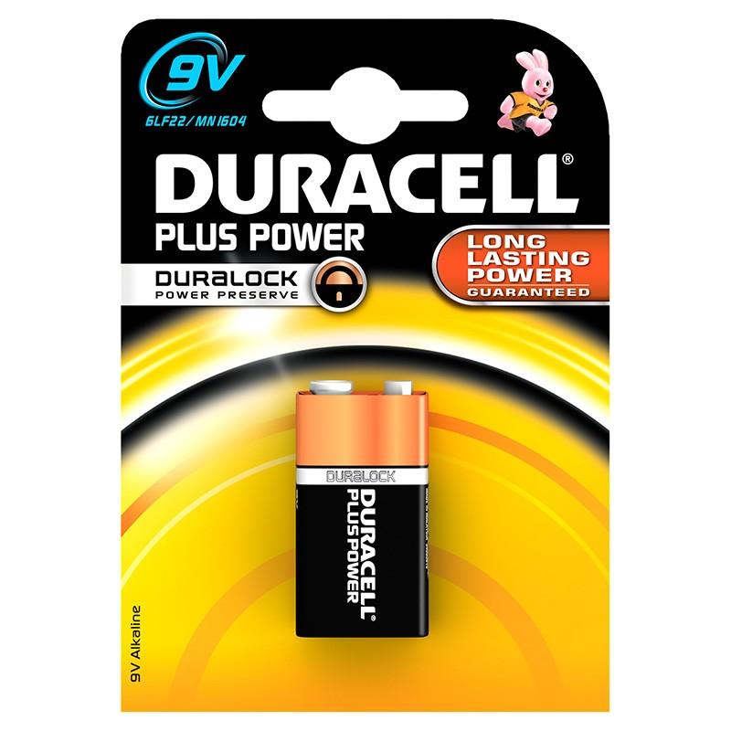 Pila Alcalina 9V Duracell Plus Power MN1604B1